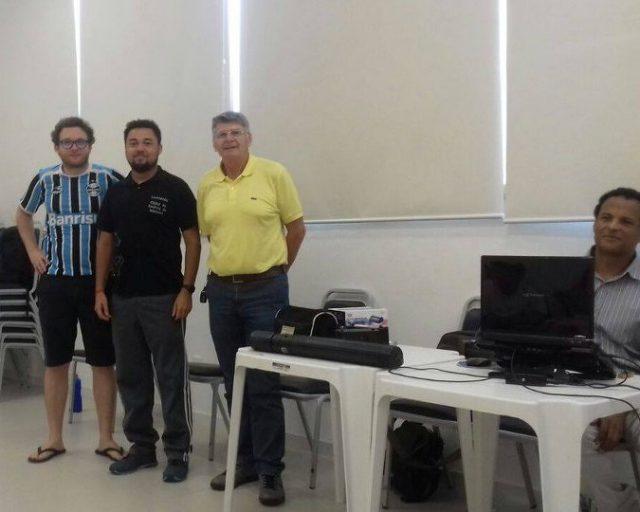 Na Categoria Absoluta, os vencedores: da esquerda para direita, Moritz, Bortollotti e Boabaid. Três enxadristas acostumados ao pódio de torneios de xadrez